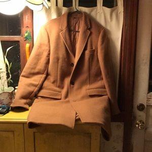 NWOT J Crew camel overcoat 42 slim fit thinsulate